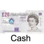 We accept cash