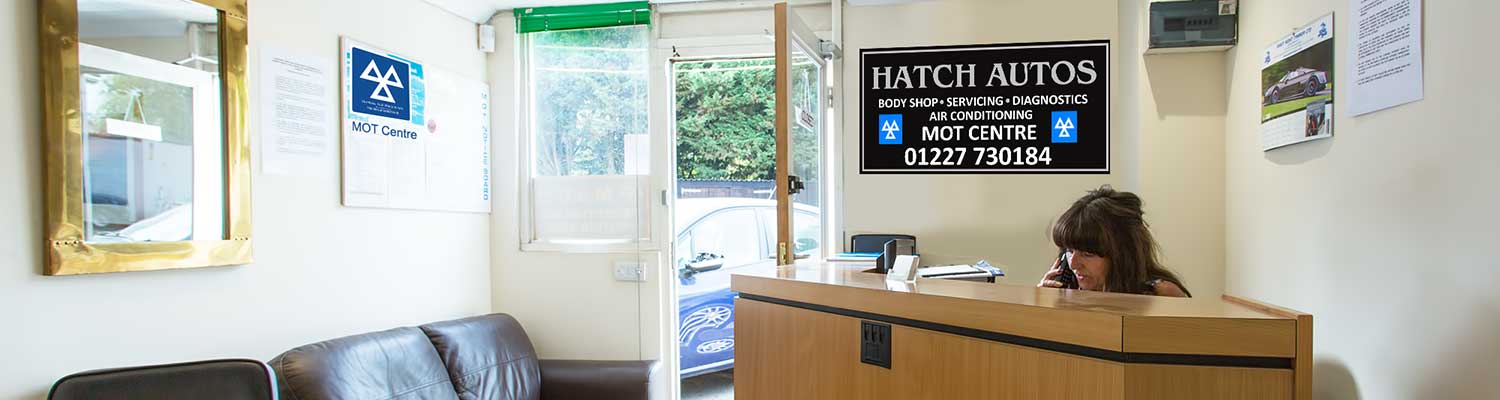 Cheryl manages the reception area at Hatch Autos